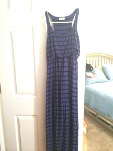 Blue/Black striped maxi | Smal | $12