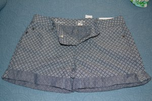 Ann Taylor Loft patterned Chambray shorts - size 2 - NWT - $15