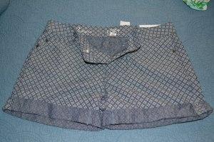 Ann Taylor Loft patterned Chambray shorts - size 2 - NWT - $15