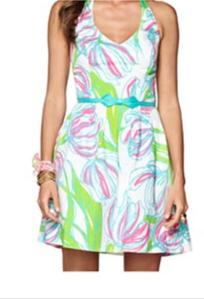 Lilly Pulitzer Ross Dress in Ring the Bell Boy Resort White | size 6 | worn twice | $75 (retails for $198)