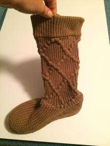 Ugg quilted boots (soles look brand new) | size 5 | $70
