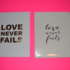 Southern Weddings Love Never Fails print