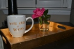 Be Kind + Work Hard mug