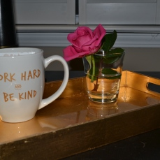 Be Kind + Work Hard mug